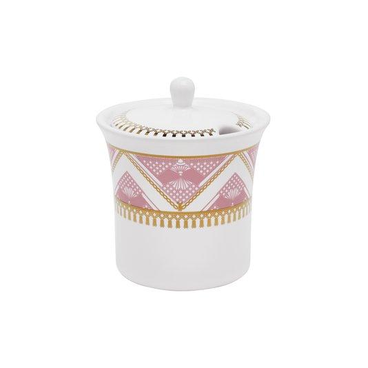 Açucareiro de Porcelana Flamingo Macrame Oxford 200 ml