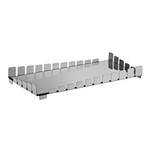 Bandeja Bar Piano Retangular Aço Inox com Espelho Riva 63 cm