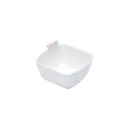 Bowl de Porcelana Bird Colors Rojemac Branco 12X10X7CM