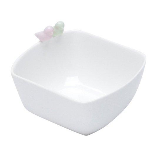 Bowl de Porcelana Bird Colors Rojemac Branco 16 cm