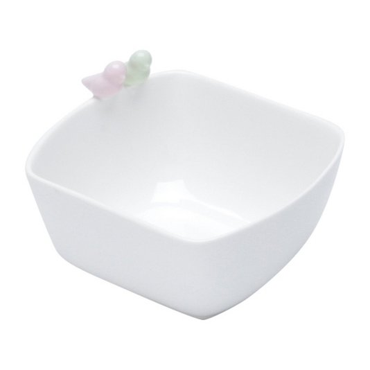 Bowl de Porcelana Bird Colors Rojemac Branco 21cm