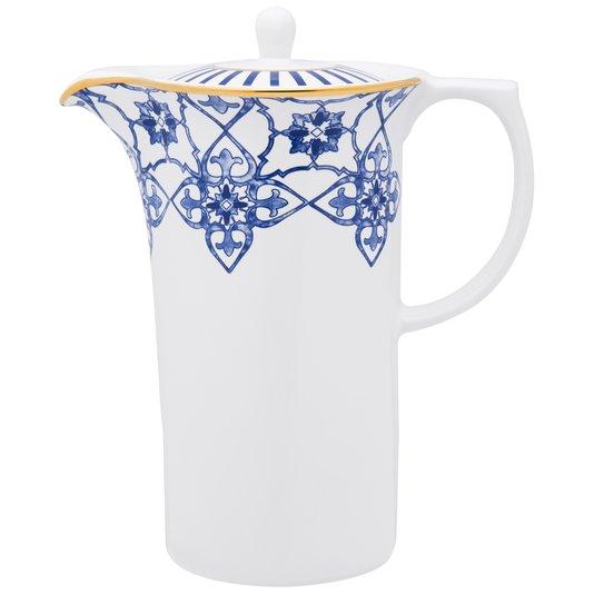 Bule de Porcelana com Tampa Coup Lusitana Oxford 1200 ml