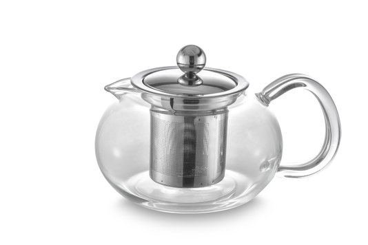 Bule para Chá em Vidro e Aço Inox Oxford 500ml