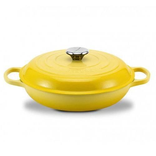 Caçarola Buffet Le Creuset Signature Amarelo Soleil 30 cm