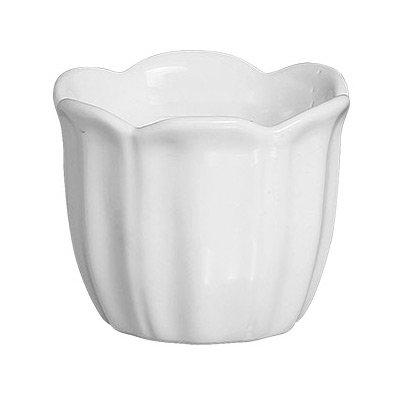 Cachepot Pétalas Silveira Cerâmica Branco 9 cm