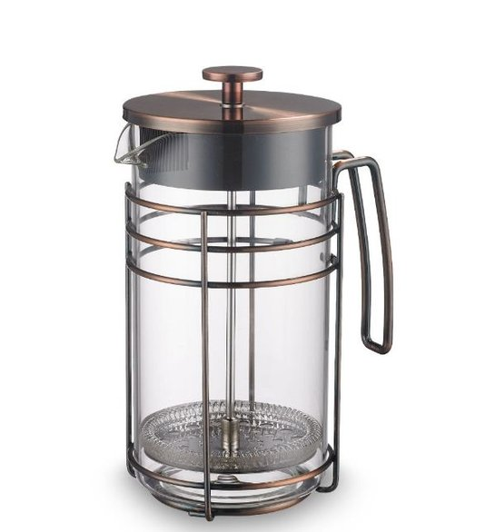 Cafeteira Francesa em Vidro e Aço Inox Oxford 1 Litro