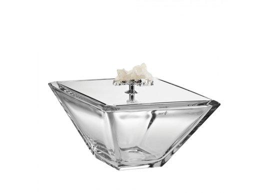 Caixa Riviera Riva Aço Inox com Pedra Cristal 11 x 11