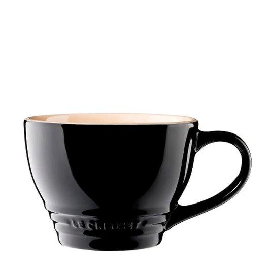Caneca de Cerâmica Le Creuset Black Onix 400 ml