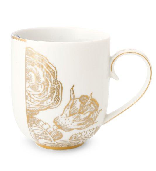 Caneca Golden Flower Royal White Pip Studio 325 ml