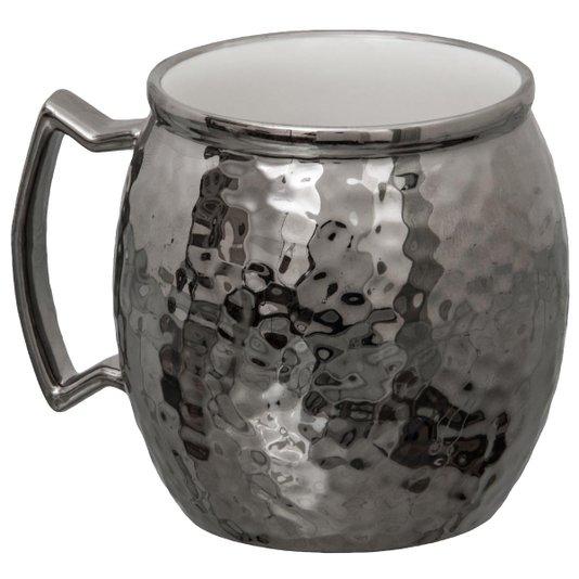 Caneca para Moscow Mule de Porcelana Vera Silver Prata 430 ml