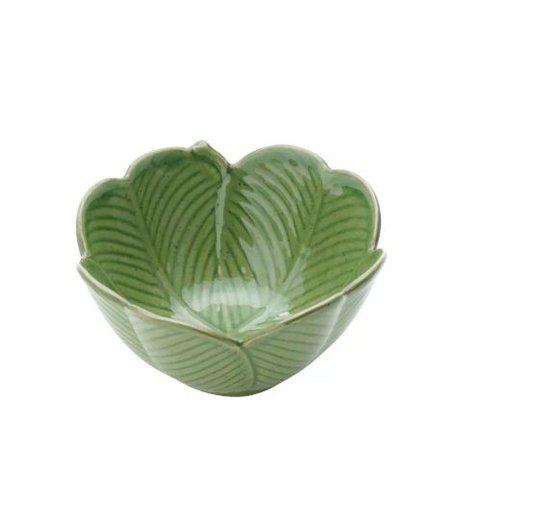 Centro de Mesa Decorativo Banana Leaf Lyor Verde 13cm