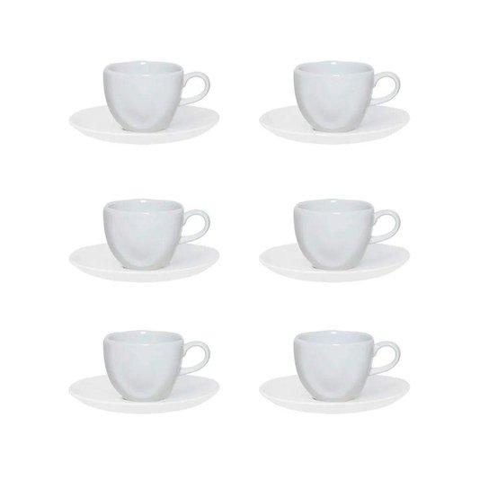 Conjunto 12 Peças Jogo de Chá White Oxford