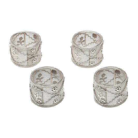 Conjunto 4 Anéis Para Guardanapo Ferro Rojemac 5X3,5CM