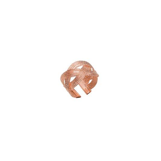 Conjunto 4 Peças Aneis Para Guardanapo Spiral Rose Gold Rojemac 5X3CM
