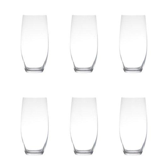 Jogo de 6 Copos Altos Para Água Cristal Ecol Pollo/ Mergus Bohemia 470 ml