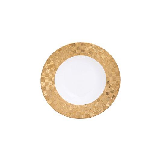 Conjunto 6 Peças Prato Fundo Porcelana Vera Gold Rojemac 21,5X4CM