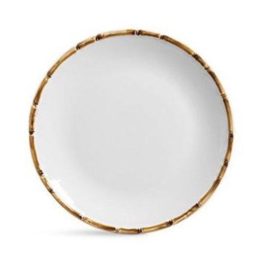 Conjunto 6 Pratos Rasos em Cerâmica Scalla Cerâmica Branco