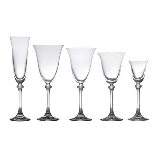 Conjunto de 30 Taças de Cristal Alexandra Bohemia