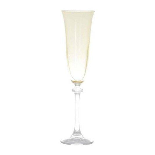 Conjunto de 6 Taças de Cristal para Champagne Alexandra Rojemac Bohemia Âmbar