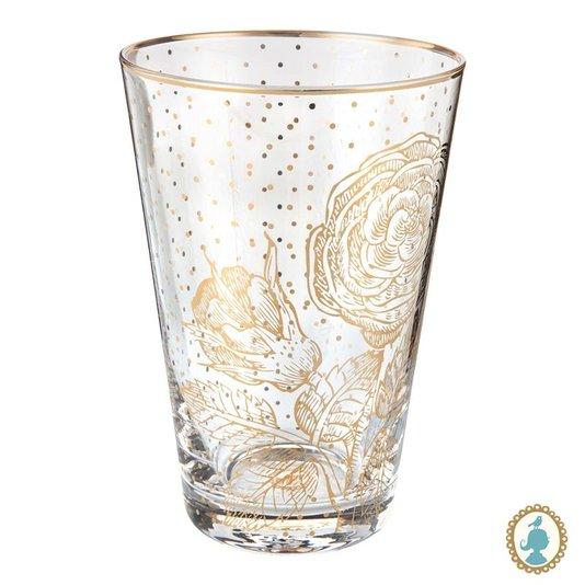Copo Long Drink Golden Flower Royal Pip Studio 370 ml