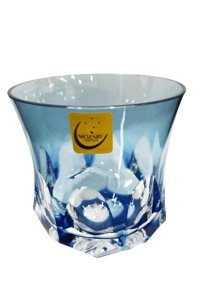 Copo para Whisky em Cristal Overley Mozart Azul Claro 325 ml