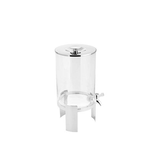 Dispenser de Vidro com Suporte Wolff Aço Inox 5 Litros