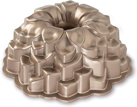 Forma para Bolo Copper Blossom Nordic Ware Marrom Toffee 26,7 cm