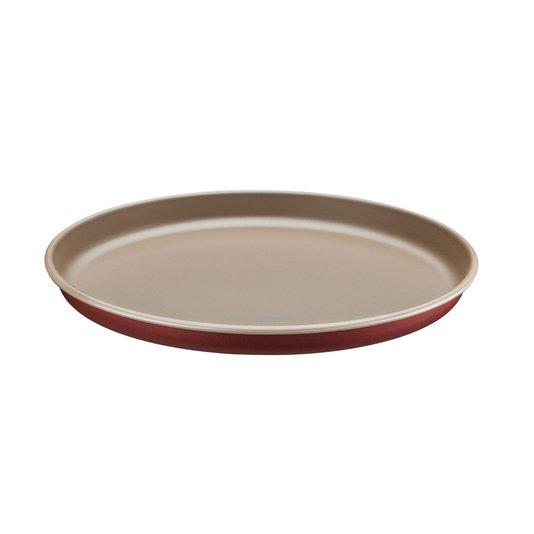 Forma Redonda de Alumínio para Pizza Tramontina Vermelha 30 cm