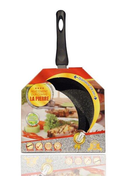 Frigideira Antiaderente Kitchen Pro Venteo Preta 24 cm