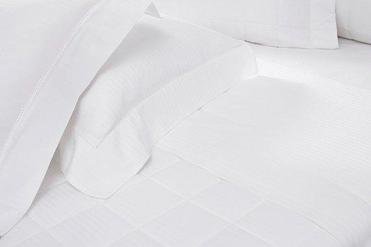 Fronha Branca Damask Stripes 3 Abas Com Ajour Buddemeyer