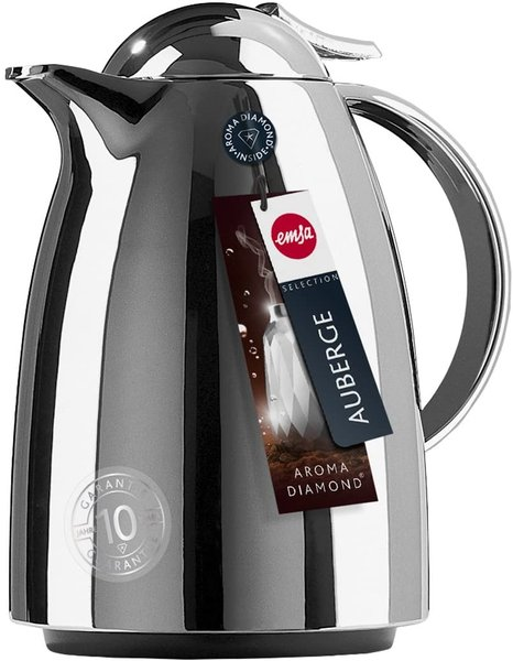 Garrafa Térmica Auberge Quick Tip Emsa Cromada 650 ml