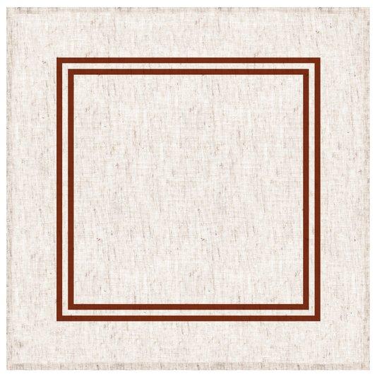 Guardanapo de Mesa em Linho Decortextil Off White e Ocre