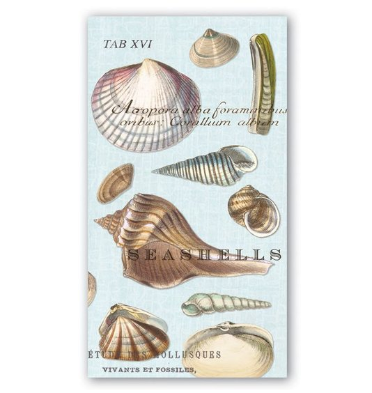 Guardanapo de Papel Hostess Seashells Michel Design 20x11cm