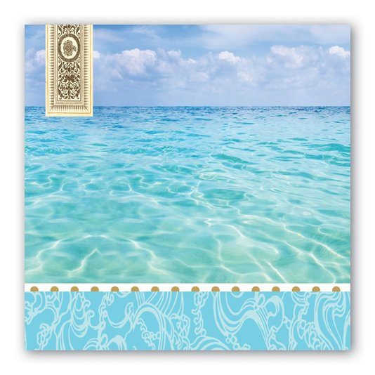 Guardanapo de Papel Lanche Beach Michel Design 16,5 cm