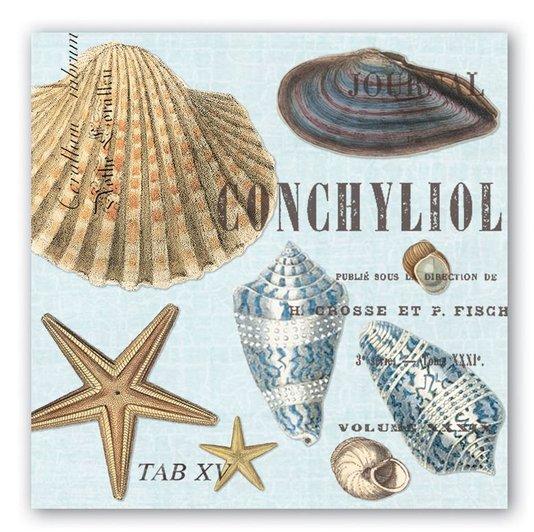 Guardanapo de Papel Lanche Seashells Michel Design 16,5 cm