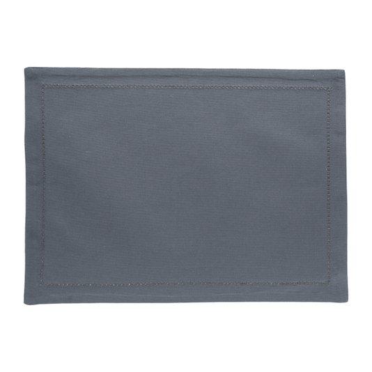 Jogo 02 Peças Americano Ponto Ajour Royal Decor Cinza Escuro 45x33 cm