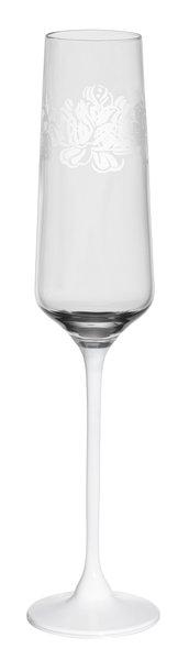 Jogo 06 Peças Taças de Cristal Blanc Para Espumante Oxford 190ml