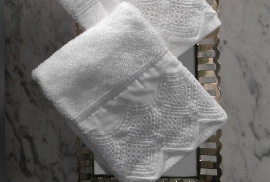 Kit 2 Peças Lavabo Imperiale Trussardi Branco 30cm x 50cm
