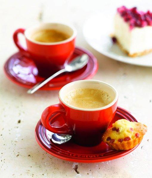 Jogo de 2 Xícaras com Pires para Espresso Le Creuset Vermelho