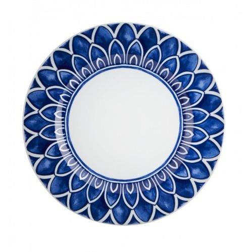 Jogo de 4 Pratos Marcador Azure Lux Vista Alegre Azul e Branco 32cm