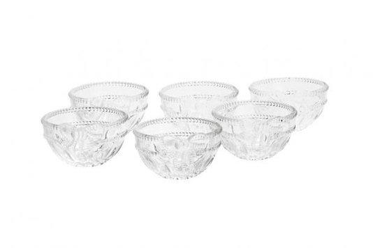 Jogo de 6 Bowls para Sobremesa Royal em Cristal Wolff 12,5 cm