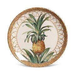 Jogo de 6 Pratos de Sobremesa Coup Pineapple Natural Porto Brasil