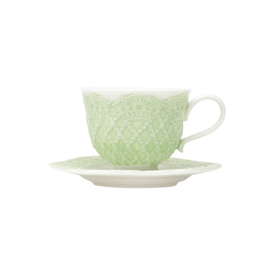 Jogo de 6 Xícaras de Café Givemy Wolff Verde Claro 90 ml