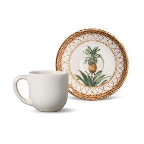 Jogo de 6 Xícaras de Café Pineapple Natural Porto Brasil