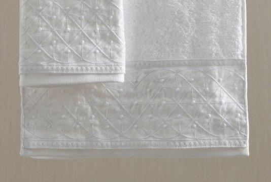 Jogo de Banho e Rosto Fio Penteado Imperiale Sortido Trussardi Branco