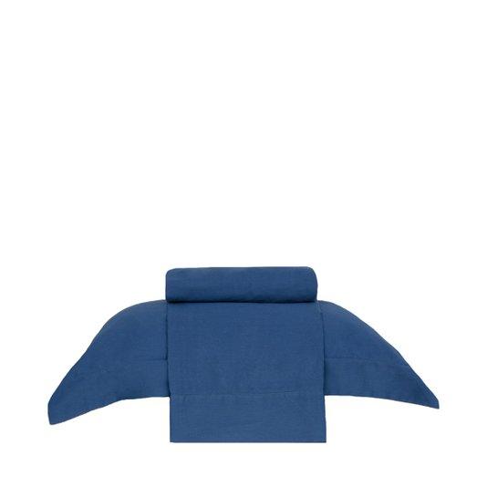 Jogo de Cama Solteiro Bud Vision New Colors Buddemeyer Azul