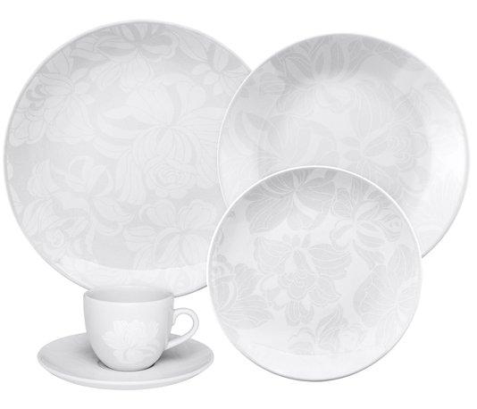 Jogo de Jantar e Chá 30 Peças Coup Blanc Oxford Branco