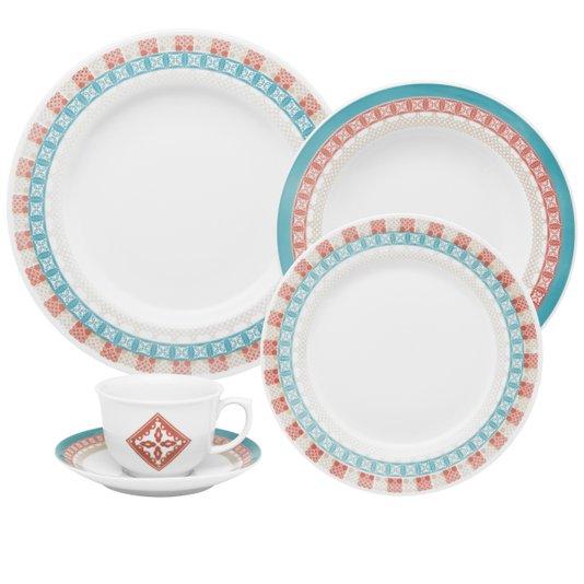 Jogo de Jantar e Chá 30 peças Flamingo Colors Oxford