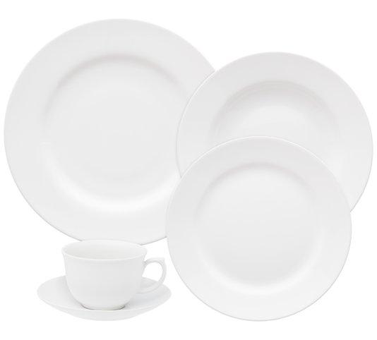 Jogo de Jantar e Chá 30 Peças Flamingo White Oxford