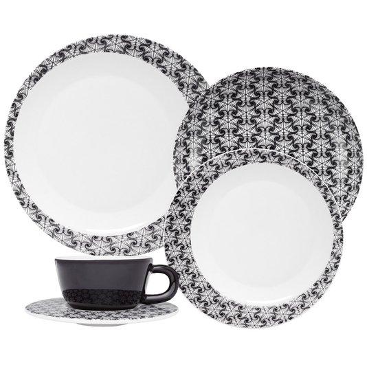 Jogo de Jantar e Chá 30 Peças Moon Spirale Oxford